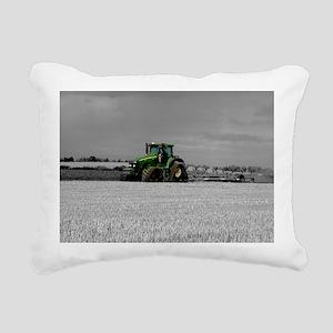 Working the Fields Rectangular Canvas Pillow