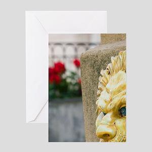 ITALY, Sicily, TAORMINA: Ceramic Lio Greeting Card