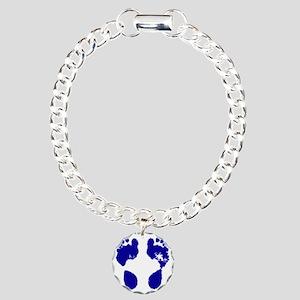 jennifer_footprint_blue Charm Bracelet, One Charm