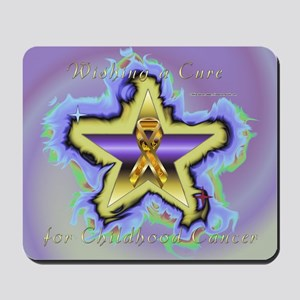 Child Cancer Wish Star Mousepad