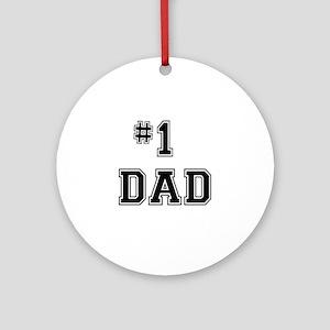 #1 Dad Ornament (Round)