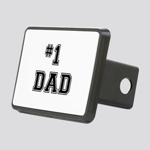 #1 Dad Rectangular Hitch Cover