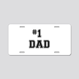 #1 Dad Aluminum License Plate