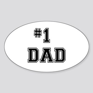 #1 Dad Sticker