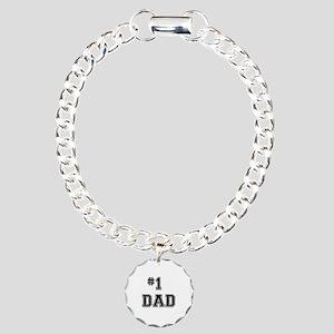 #1 Dad Charm Bracelet, One Charm