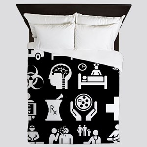 Medical Icons Dr.Stuff Queen Duvet