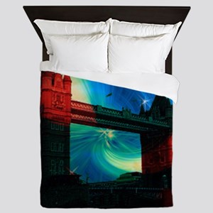 london tower bridge effects Queen Duvet