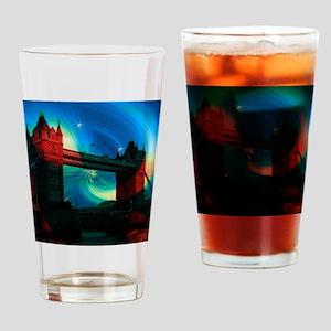 london tower bridge effects Drinking Glass