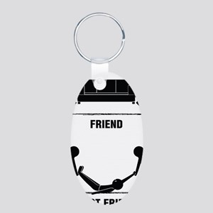 friends Aluminum Oval Keychain