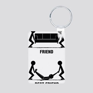friends Aluminum Photo Keychain
