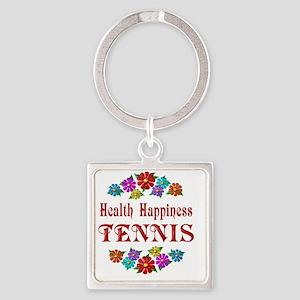 TENNIS Square Keychain