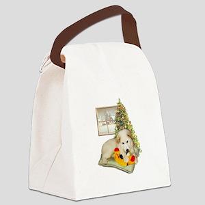 ornament_simone_pup Canvas Lunch Bag