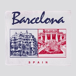 Barcelona_7x7_apparel_CasaMila_ParcG Throw Blanket