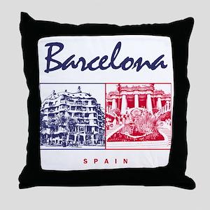 Barcelona_7x7_apparel_CasaMila_ParcGu Throw Pillow