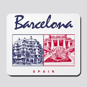 Barcelona_7x7_apparel_CasaMila_ParcGuell Mousepad