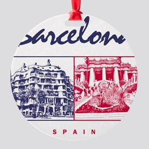 Barcelona_7x7_apparel_CasaMila_Parc Round Ornament