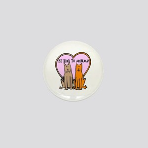 Be Kind To Animals Mini Button
