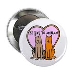 Be Kind To Animals Button