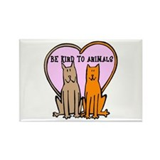 Be Kind To Animals Rectangle Magnet