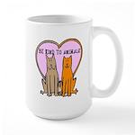 Be Kind To Animals Large Mug