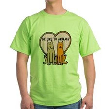 Be Kind To Animals Green T-Shirt