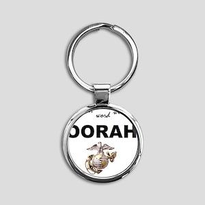 oorah Round Keychain