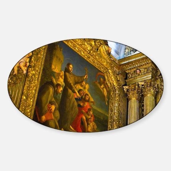 Lisbon. The Igreja de Sao Roque was Sticker (Oval)