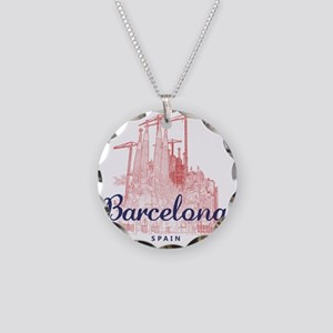 Barcelona_7x7_LaSagradaFamil Necklace Circle Charm
