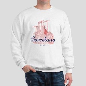 Barcelona_7x7_LaSagradaFamilia_BrownBlu Sweatshirt