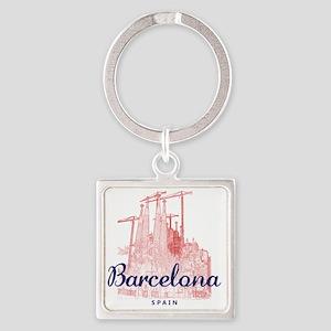 Barcelona_7x7_LaSagradaFamilia_Bro Square Keychain