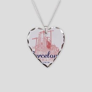 Barcelona_7x7_LaSagradaFamili Necklace Heart Charm
