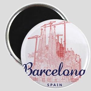 Barcelona_7x7_LaSagradaFamilia_BrownBlue Magnet