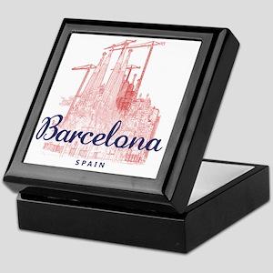 Barcelona_7x7_LaSagradaFamilia_BrownB Keepsake Box