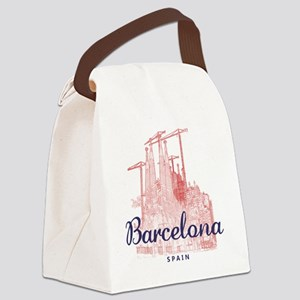 Barcelona_7x7_LaSagradaFamilia_Br Canvas Lunch Bag