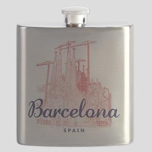Barcelona_7x7_LaSagradaFamilia_BrownBlue Flask