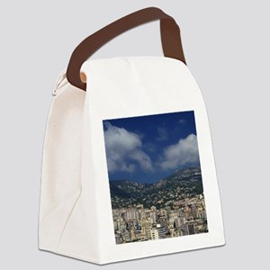 Monaco, Cote d'Azur, Montecarlo. Canvas Lunch Bag