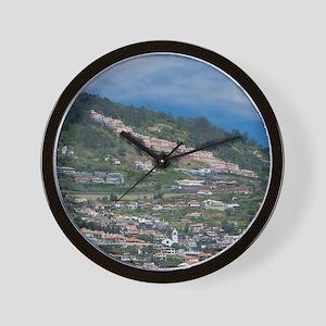 Funchal. Historic yellow Saint Tiago Fo Wall Clock
