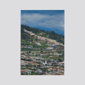 Funchal. Historic yellow Saint Ti Rectangle Magnet