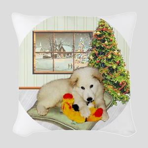 ornament_simone_pup2 Woven Throw Pillow