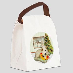 ornament_simone_pup2 Canvas Lunch Bag