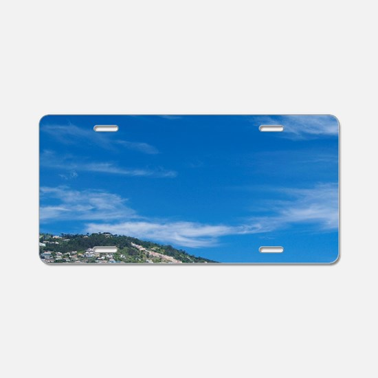 Scenic view of the coast of Aluminum License Plate