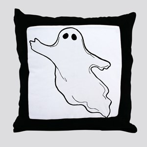 ghost10x10 Throw Pillow