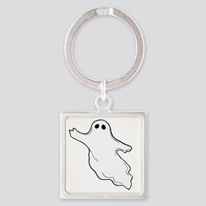 ghost10x10 Square Keychain