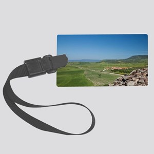 The most important nuraghe megal Large Luggage Tag