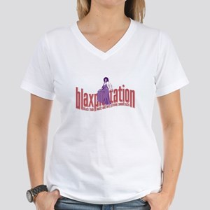 Blaxploitation Women's V-Neck T-Shirt