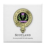 Flower of Scotland Tile Coaster