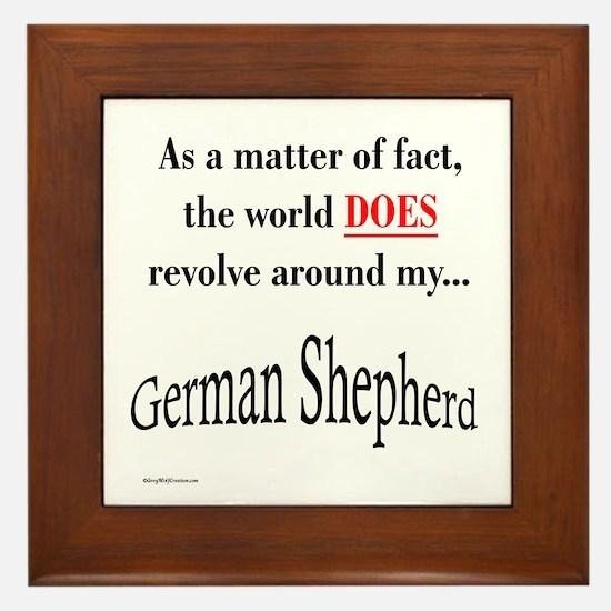 German Shepherd World Framed Tile