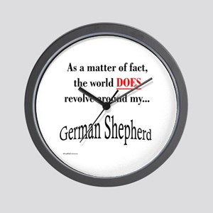 German Shepherd World Wall Clock