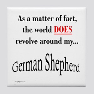 German Shepherd World Tile Coaster