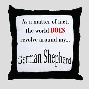 German Shepherd World Throw Pillow